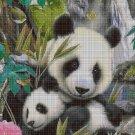 Panda baby 3 cross stitch pattern in pdf DMC