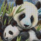 Pandas cross stitch pattern in pdf DMC