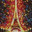 Paris art cross stitch pattern in pdf