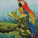 Parrot cross stitch pattern in pdf