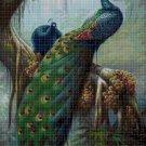 Peacock cross stitch pattern in pdf