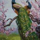 Peacocks cross stitch pattern in pdf