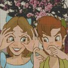 Peter Pan and Wendy cross stitch pattern in pdf DMC