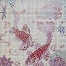 Pink fishes cross stitch pattern in pdf