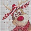Reindeer cross stitch pattern in pdf