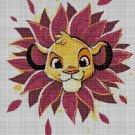Simba face 2 cross stitch pattern in pdf