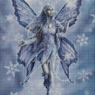 Snow fairy cross stitch pattern in pdf