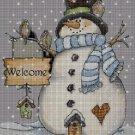 Snowman cross stitch pattern in pdf