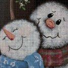 Snowman love cross stitch pattern in pdf