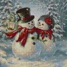Snowman love 2 cross stitch pattern in pdf