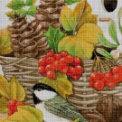 Sparrow in autumn cross stitch pattern in pdf DMC