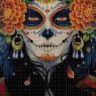 Sugar Skull 4 cross stitch pattern in pdf DMC