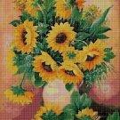 Sunflowers 2 cross stitch pattern in pdf DMC