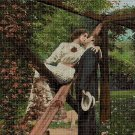 The kiss cross stitch pattern in pdf DMC