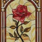 Tiffany rose cross stitch pattern in pdf DMC