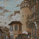 Tower cross stitch pattern in pdf DMC