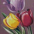 Tulips cross stitch pattern in pdf DMC