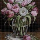 Tulips 2 cross stitch pattern in pdf DMC