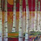 Twilight in the forest cross stitch pattern in pdf DMC