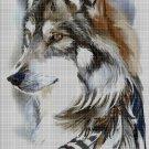 Wolf art cross stitch pattern in pdf DMC