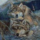 Wolves 2 cross stitch pattern in pdf DMC
