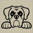 DOG HEAD 10 CROCHET AFGHAN PATTERN GRAPH