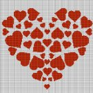 HEARTS IN HEART CROCHET AFGHAN PATTERN GRAPH