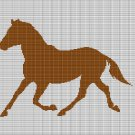 HORSE 11 CROCHET AFGHAN PATTERN GRAPH