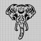 INDIAN ELEPHANT HEAD CROCHET AFGHAN PATTERN GRAPH