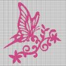BUTTERFLY ON THE FLOWER CROCHET AFGHAN PATTERN GRAPH