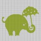 ELEPHANT WITH UMBRELLA CROCHET AFGHAN PATTERN GRAPH