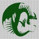 GREEN DRAGON SYMBOL CROCHET AFGHAN PATTERN GRAPH