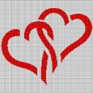 HEARTS 12 CROCHET AFGHAN PATTERN GRAPH