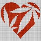 CANABIS HEART CROCHET AFGHAN PATTERN GRAPH