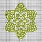 GREEN FLOWER 4 CROCHET AFGHAN PATTERN GRAPH