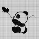 LITTLE PANDA WITH BUTTERFLY CROCHET AFGHAN PATTERN GRAPH