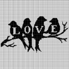 LOVE BIRDS 3 CROCHET AFGHAN PATTERN GRAPH
