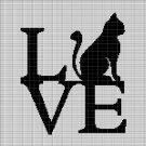 LOVE CAT 6 CROCHET AFGHAN PATTERN GRAPH