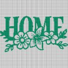 HOME WITH FLOWERS CROCHET AFGHAN PATTERN GRAPH