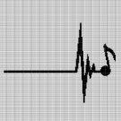 MUSIC HEARTBEAT CROCHET AFGHAN PATTERN GRAPH