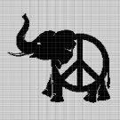 PEACE ELEPHANT CROCHET AFGHAN PATTERN GRAPH