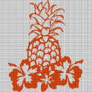 PINEAPPLE AND FLOWERS CROCHET AFGHAN PATTERN GRAPH
