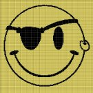 PIRATE SMILEY CROCHET AFGHAN PATTERN GRAPH