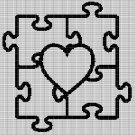 PUZZLE HEART CROCHET AFGHAN PATTERN GRAPH