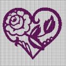 ROSE IN HEART CROCHET AFGHAN PATTERN GRAPH