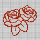 ROSES 5 CROCHET AFGHAN PATTERN GRAPH