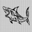 SHARK 14 CROCHET AFGHAN PATTERN GRAPH