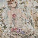Anime girl 8 cross stitch pattern in pdf DMC