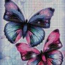 Butterflies 2 cross stitch pattern in pdf DMC