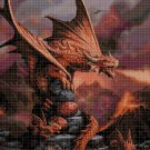 Dragons cross stitch pattern in pdf DMC
